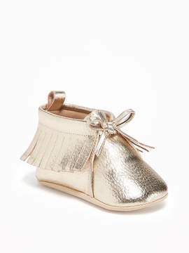 Old Navy Metallic-Gold Moccasins for Baby