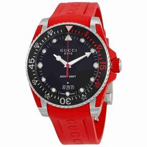 Gucci Dive Black Dial Men's Watch YA136309
