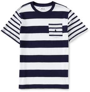 Ralph Lauren Big Boys 8-20 Short-Sleeve Striped Jersey T-Shirt