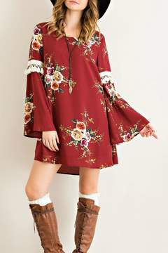 Entro Floral Tassel Dress