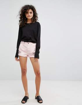 Dr. Denim Jenn Highwaisted Short with Rips