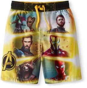 Trunks Avengers Infinity Wars Boys' Graphic Swim