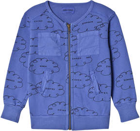 Bobo Choses Turkish Sea Clouds Zipped Sweatshirt