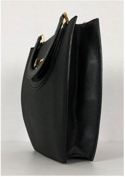 Bally Black Pebbled Leather Handbag