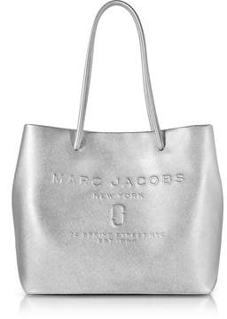 Marc Jacobs Laminated Leather Logo Shopper East-West Tote