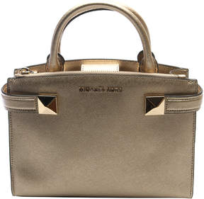 Michael Kors Pale Gold Karla Leather Satchel - PALE - STYLE