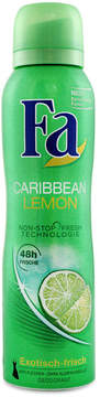 Caribbean Lemon Deodorant Spray by Fa (150ml Spray)