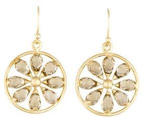 Elizabeth Showers 18K Smoky Quartz Pinwheel Earrings