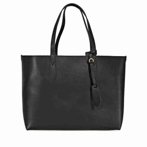 Burberry Small Reversible Leather Tote - Black - ONE COLOR - STYLE