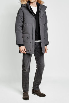 Canada Goose Emory Down Parka with Fur-Trimmed Hood