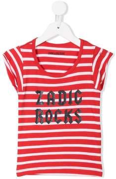 Zadig & Voltaire Kids Zadig Rocks print T-shirt