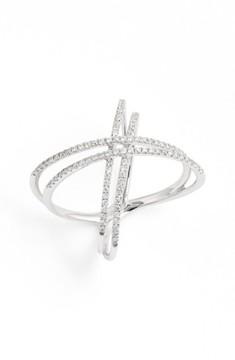 Bony Levy Women's Double X Crossover Diamond Ring (Nordstrom Exclusive)