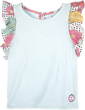 Andy & Evan Girls' Aqua T-Shirt