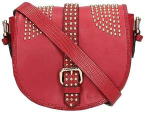 RED Valentino Burgundy Leather Crossbody Saddle Bag