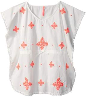 Seafolly Summer Essentials Embroidered Kaftan Cover-Up Girl's Swimwear