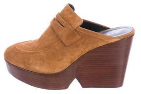Robert Clergerie Damor Suede Mules w/ Tags