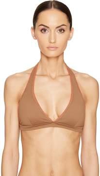 Letarte Halter Top with Whipstitch Women's Swimwear
