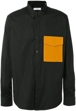 Ami Alexandre Mattiussi large fit shirt flannel pocket