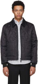 Ami Alexandre Mattiussi Black Nylon Quilted Jacket