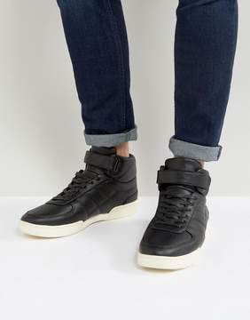 Asos High Top Sneakers In Black With Split Sole