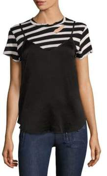 RtA Demi Striped Tee& Silk Slip
