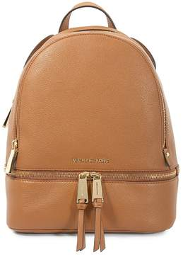 Michael Kors Rhea Medium Leather Backpack - Acorn - ONE COLOR - STYLE