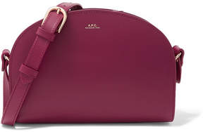 A.P.C. Demi-lune Leather Shoulder Bag - Plum