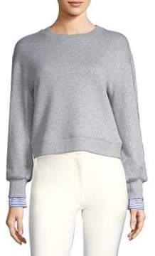 Derek Lam 10 Crosby Shirting Crewneck Sweater