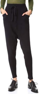 Baja East Rib Drop Crotch Pants