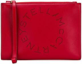 Stella McCartney logo clutch bag