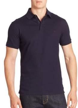 Ralph Lauren Purple Label Solid Zip Polo