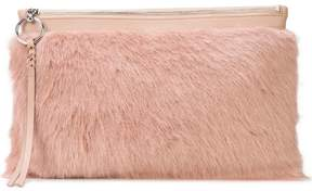 Rebecca Minkoff faux fur large clutch