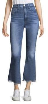 3x1 Empired Cropped Flared Jeans