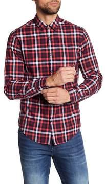 HUGO BOSS Bersh Plaid Slim Fit Shirt