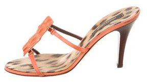 Roberto Cavalli Crocodile Slide Sandals