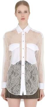 Francesco Scognamiglio Viscose Lace Shirt