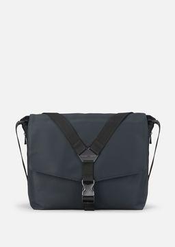 Emporio Armani cordura messenger bag with clip buckle fastening