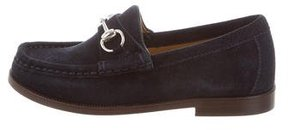Gucci Boys' Suede Horsebit Loafers w/ Tags