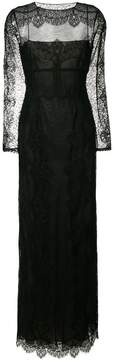 Alberta Ferretti front cut-out lace gown
