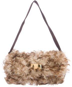 Dolce & Gabbana Mongolian Fur Shoulder Bag