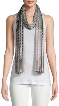 Missoni Women's Fringe Chevron Knit Scarf