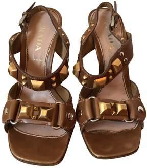 Prada Beige Leather Sandals