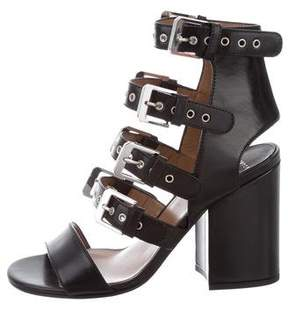 Laurence Dacade Leather Buckle-Embellished Sandals w/ Tags