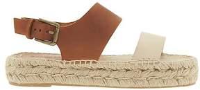 Athleta Bi Color Platform Sandal by Soludos