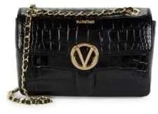Mario Valentino Antoinette Crocodile Leather Crossbody Bag