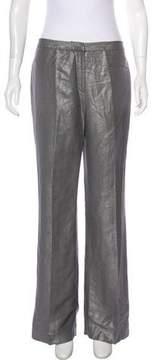 Tahari High-Rise Metallic Pants