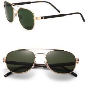 Montblanc 55MM Metal Aviator Sunglasses