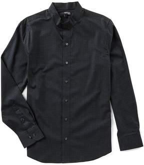 Murano Slim Long Sleeve Mandarin Collar Check Woven Shirt