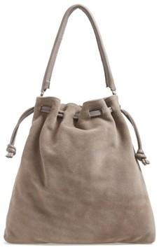 Clare V. Henri Drawstring Shoulder Bag - Grey