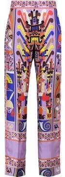 Emilio Pucci Printed Silk-Satin Straight-Leg Pants